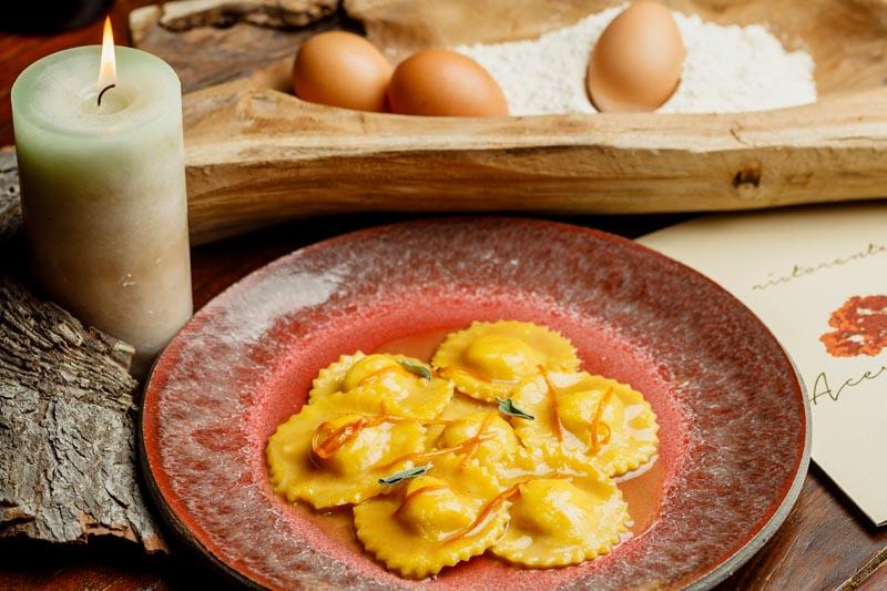 Tortelli d'Anatra con salsa agli Agrumi e Salvia